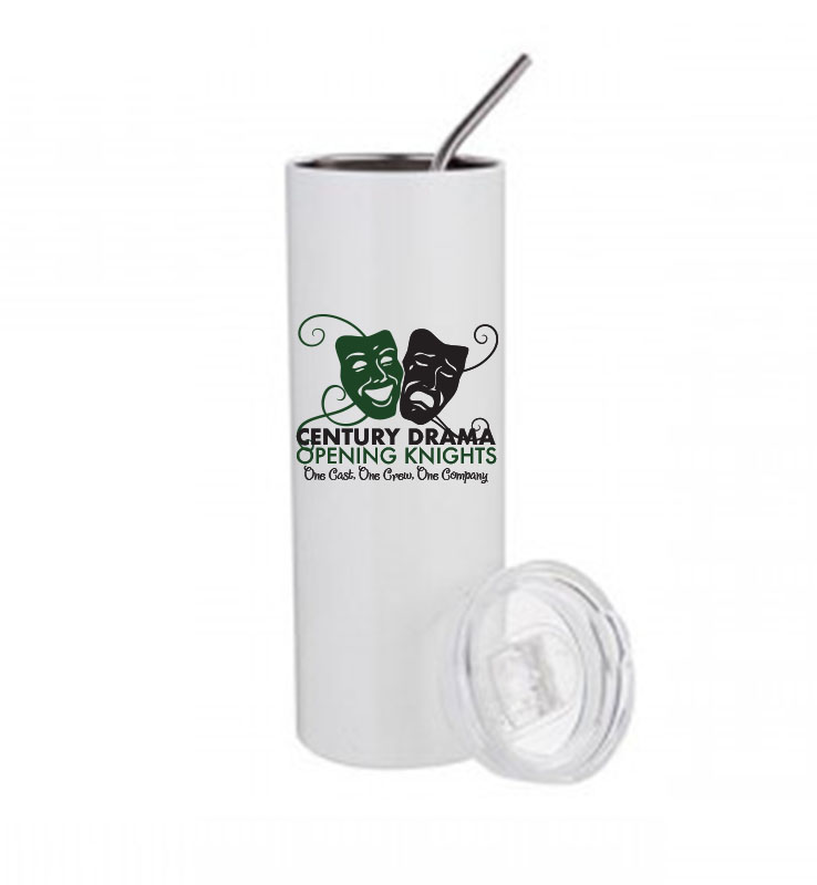CENTURY DRAMA TRAVEL MUG WITH STRAW