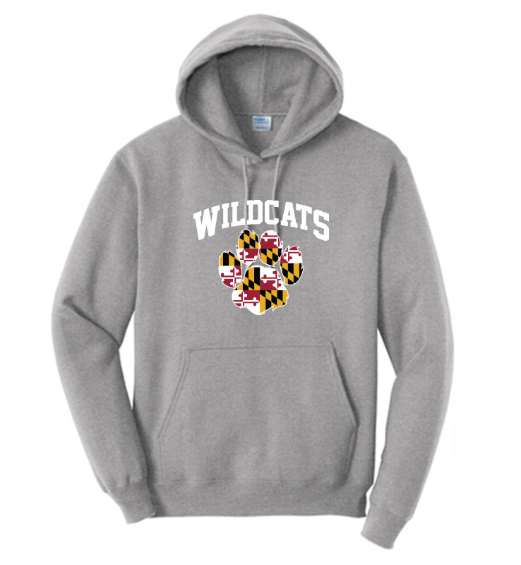 Winfield Elementary MD HOODIE GRAY