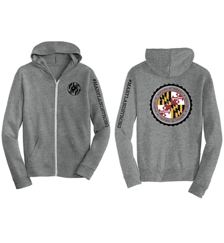 Maryland Strong Full Zip Alternative Jersey Hoodie