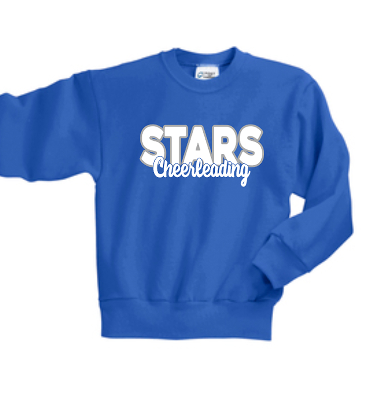 Stars Cheer Crew Neck Sweat Shirt