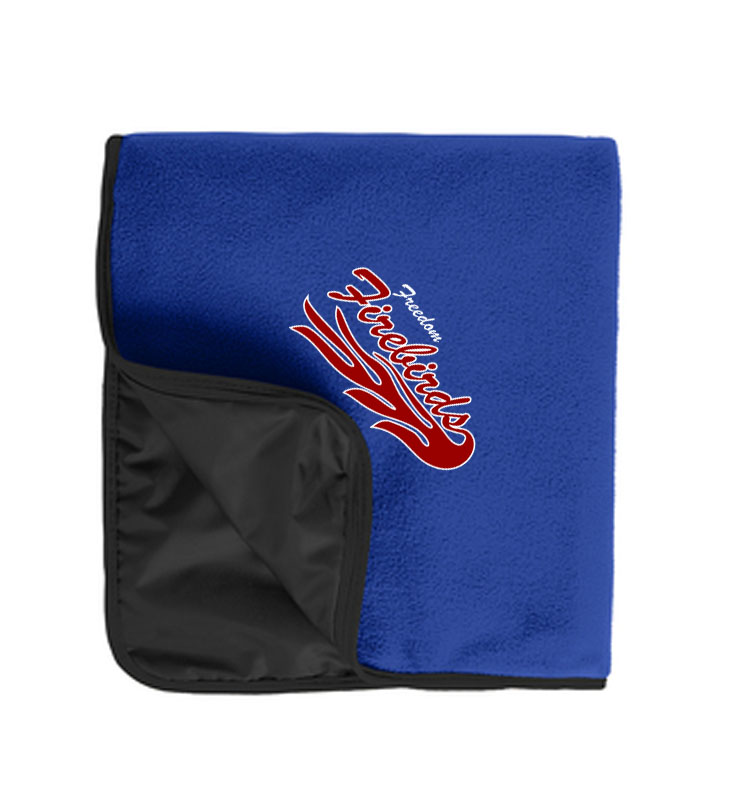 Firebirds Port Authority Fleece & Poly Travel Blanket