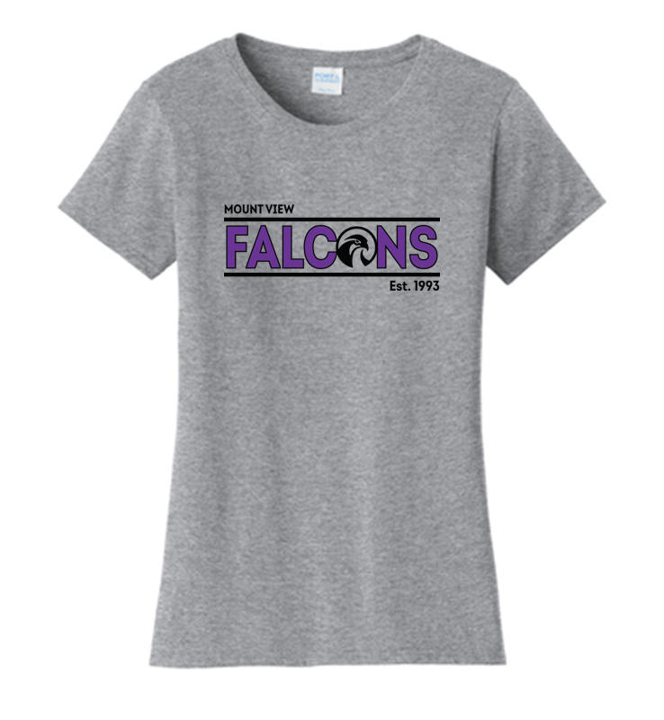 Mount View Ladies Fan Favorite Tee Heather Gray
