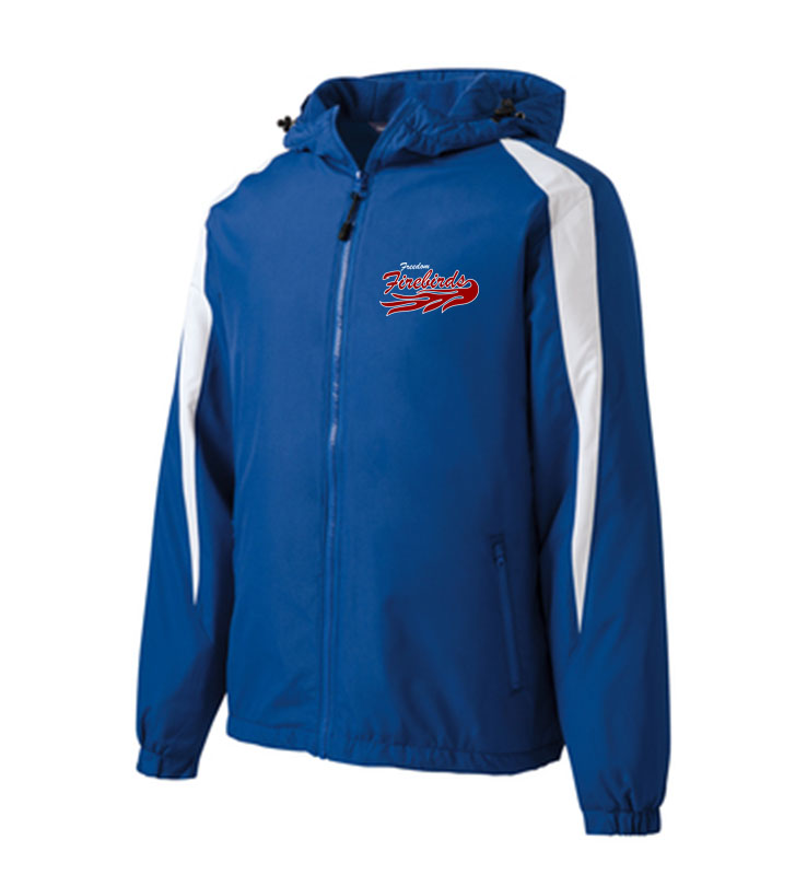 Firebirds Sport-Tek Fleece-Lined Colorblock Jacket