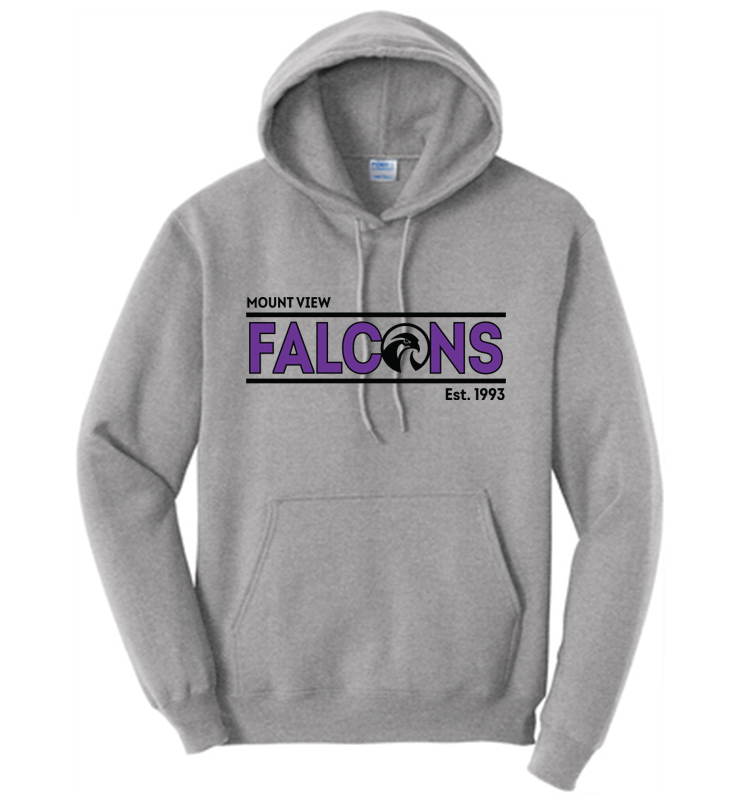 Mount View Falcons Hooded Sweatshirt Athletic Heather