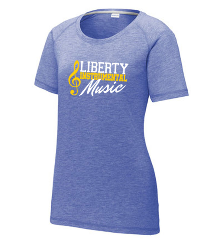 Liberty Instrumental Music Sport-Tek Ladies Tri-Blend Wicking Scoop Neck Raglan Tee