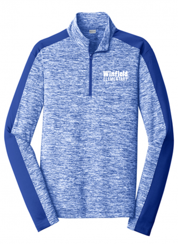 Winfield Elementary Sport-Tek PosiCharge Electric Heather Colorblock 1/4-Zip Pullover